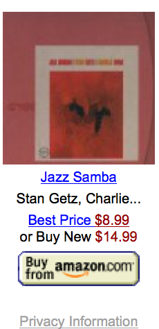 Stan Getz Store on Amazon